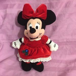 """10"""" Disney Minnie Mouse Xmas Christmas Plush"""